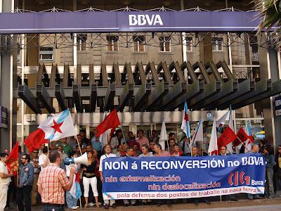 Concentranción de delegados e delegadas da CIG en Pontevedra