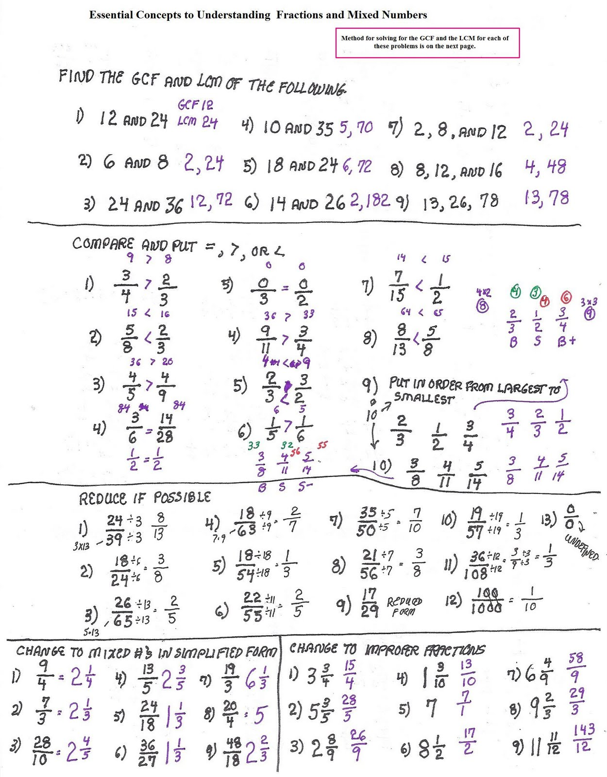 Repeating Decimals To Fractions Worksheets