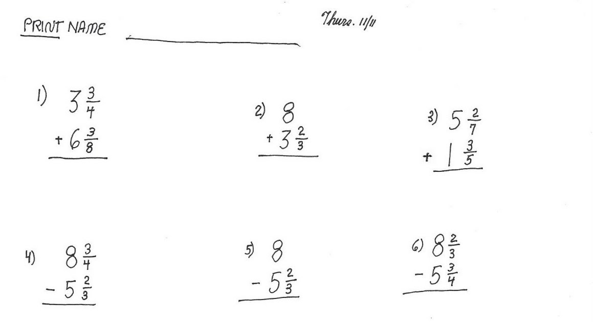 Cobb Adult Ed Math: fraction operations review quiz 2nd