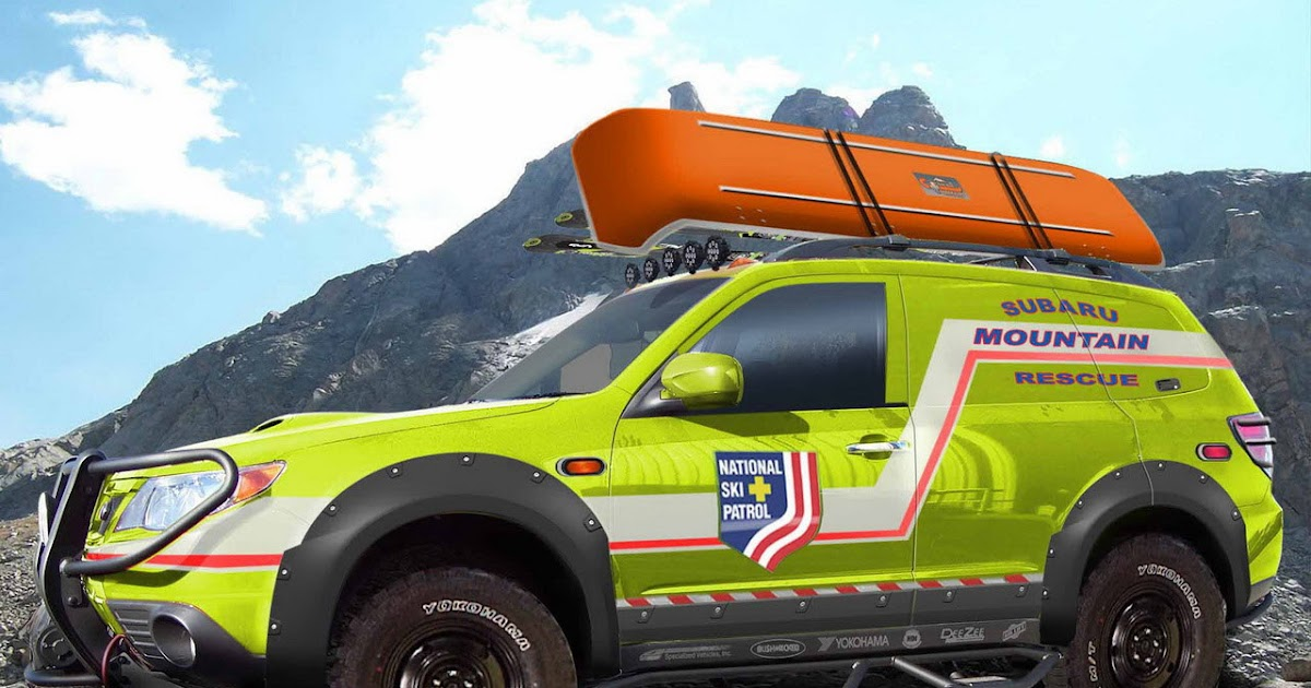 subaru creates ultimate off road forester with sema mountain rescue vehicle. Black Bedroom Furniture Sets. Home Design Ideas