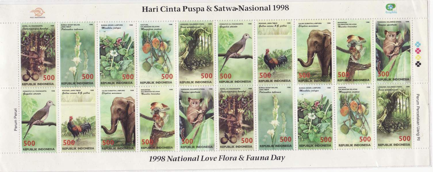 Koleksi Prangko Indonesia 1998 Mini Sheet Flora Fauna