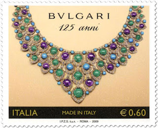 c92cc2918219 Bvlgari has teamed up with Poste Italiane to issue a special edition stamp  to mark Bvlgari s 125th anniversary. Worth  0.77 (0.60 euros) each