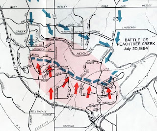 Peachtree Georgia Map.The Civil War Picket Click It Part 2 Centennial Map Of The Bloody
