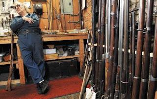 The Civil War Picket: Gunsmith works on Civil War-era guns