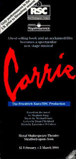 Carrie the Musical Bootleg Checklist - Cult Oddities