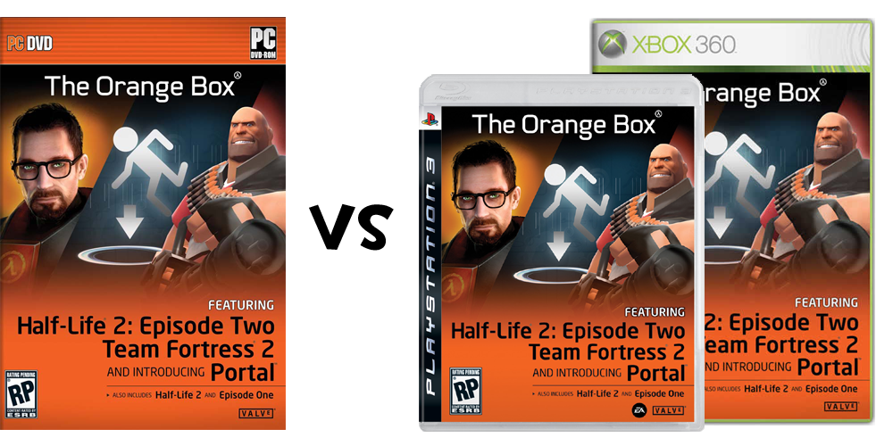 One Duck's Opinion: The Orange Box: PC vs console