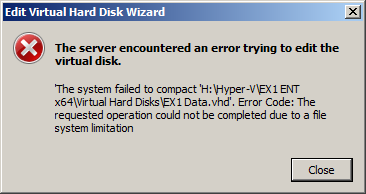 The EXPTA {blog}: Unable to Compact a VHD Due to a File