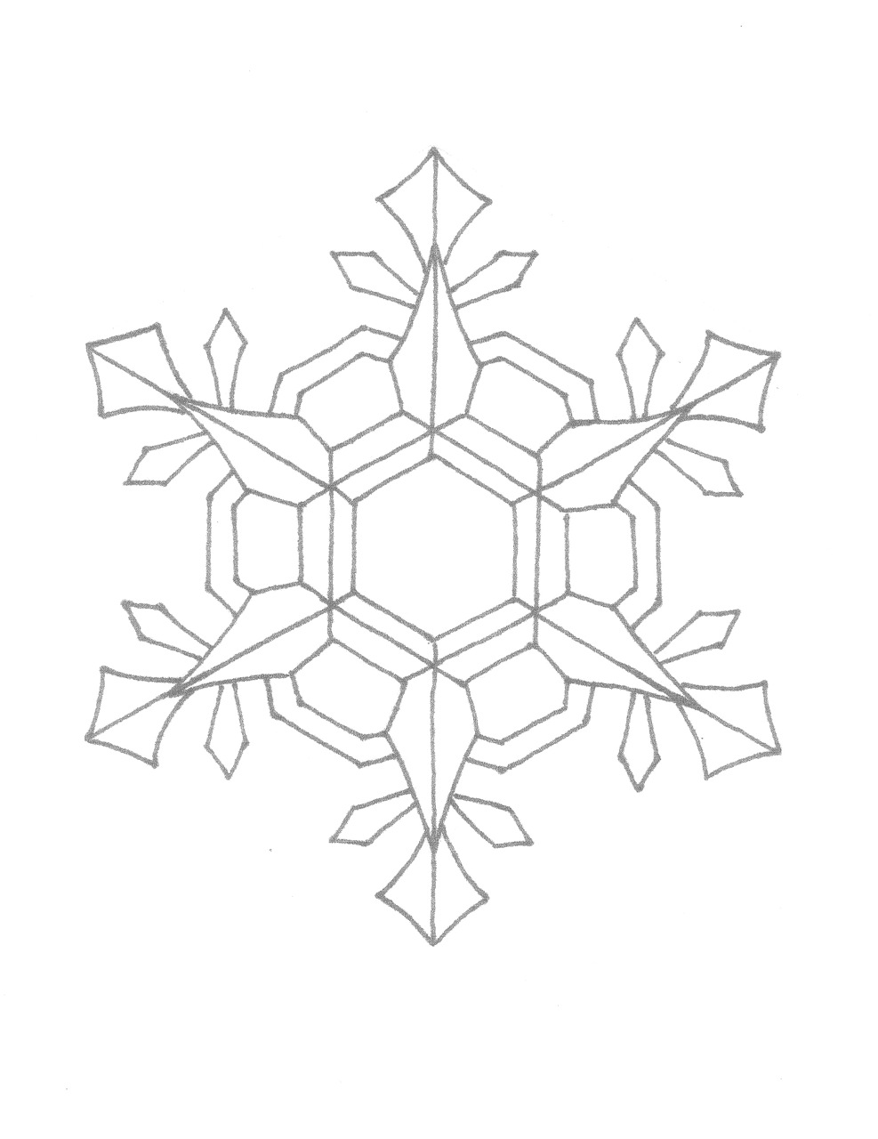 Creator 39 s joy december 2010 for Coloring pages snowflakes