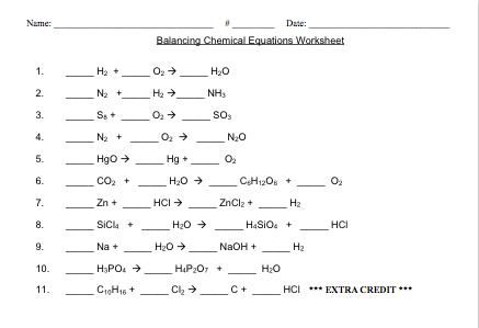 Online Homework Help For Balanced Equations