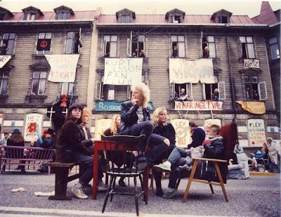 Husockupation i Haga på 1980-talet