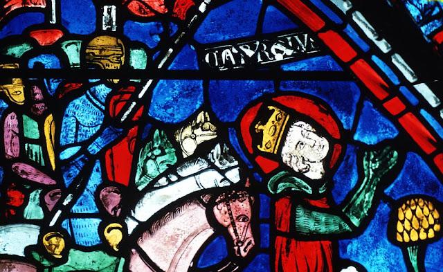 Vitral de Carlosmagno, catedral de Chartres, França, catedrais medievais