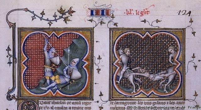 Thierry d'Ardènes, escudeiro de Roland vinga a traicao de Ganelão, As Cruzadas