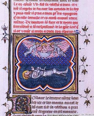 Os anjos levam a alma de Roland, As Cruzadas