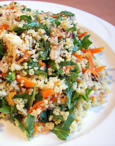 Whole Wheat Couscous Salad with Turkey and Arugula