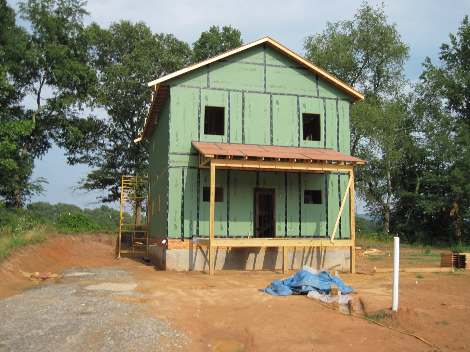 Front porch in place