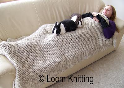 Loom Knitting Simple Afghan Pattern