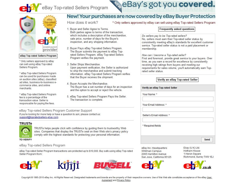 Internet Scammers Ebay Topratedsellers Com