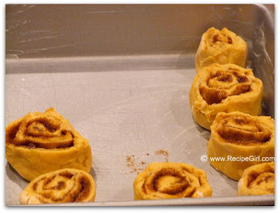 The Recipe Girl Amish Pumpkin Cinnamon Rolls With Caramel