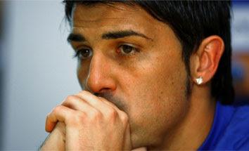 """Нападающий  """"Барселоны """" Давид Вилья может пропустить матч 26-го тура..."""
