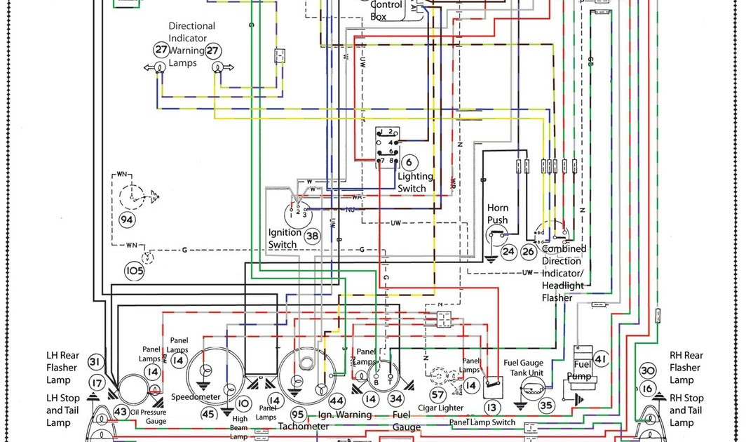 1966 Austin Healey Sprite: wiring diagram