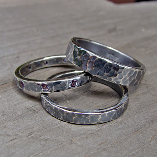 alexandrite wedding band