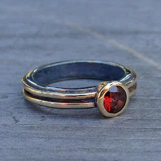 ethical garnet ring