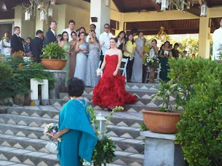Regine walking down the aisle