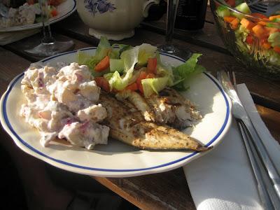 Plura jonssons grillade makrill med potatissallad