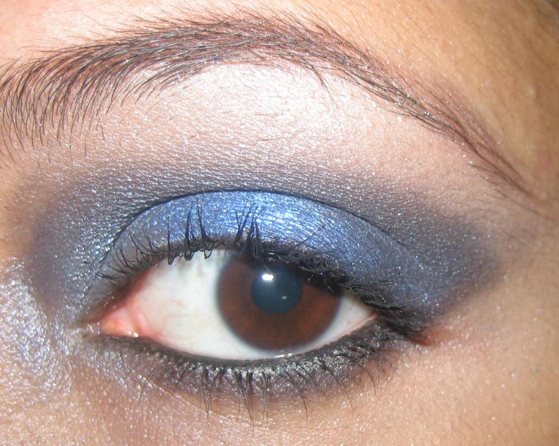 Maquillaje Y Belleza Look Azul Y Negro Bueno Para Las