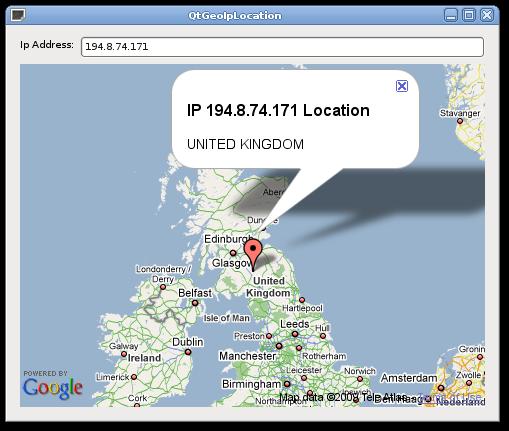 Th30z (Matteo Bertozzi Code): Qt4 Geo IP Location