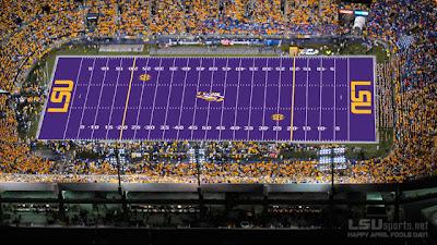 LSU's purple field