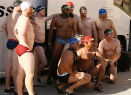 Arizona Diamondbacks rookies wearing speedos
