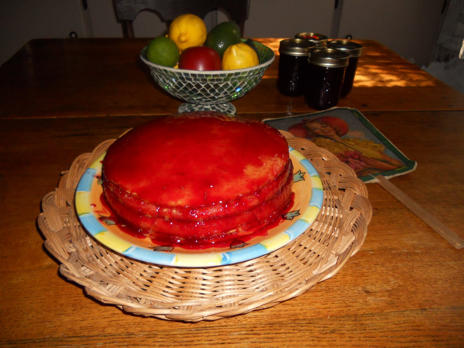 Red Jelly Cake Recipe: Simply Red: My Beautiful Jelly-cake Made With Fresh Plum Jelly