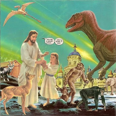 Jesus and dinosars
