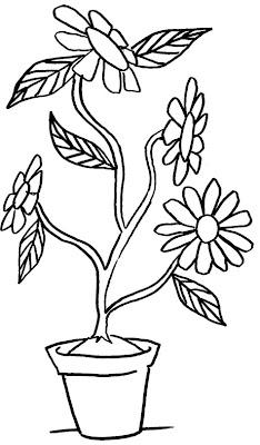 Risco De Flor Vaso De Flor Para Colorir Desenhos Para Colorir