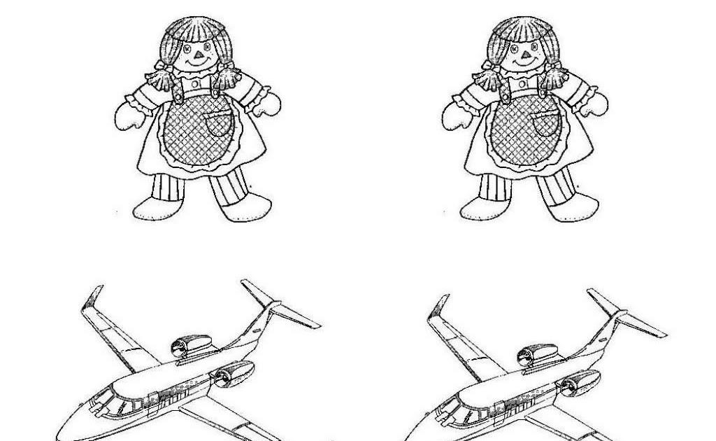 Bonecas Para Colorir E Avião Para Colorir Desenhos Infantil