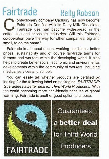 fair trade article english