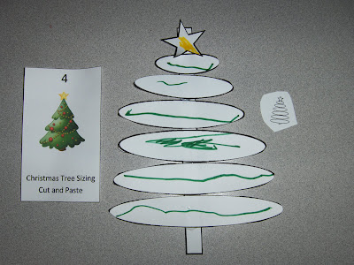 Christmas Tree Sizing Cut and Paste