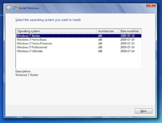 Difference between Windows 7 RTM ISO from MSDN  Create a one-for-all