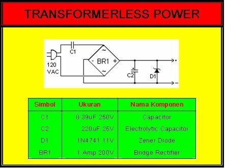 POWER SUPPLY CENTER TANPA TRAFO - BERBAHAYA