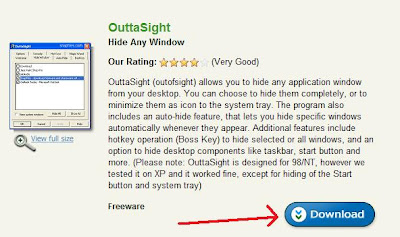 pic1 Sembunyikan aplikasi dengan Outtasight