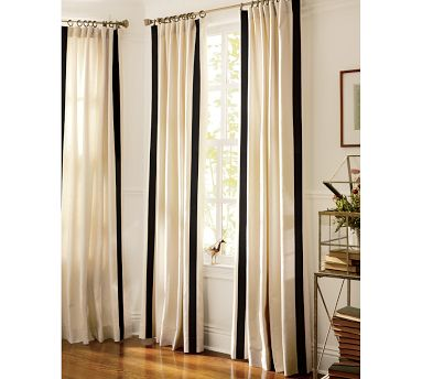 Leaf And Letter Handmade Inspiration Drop Cloth Drapes