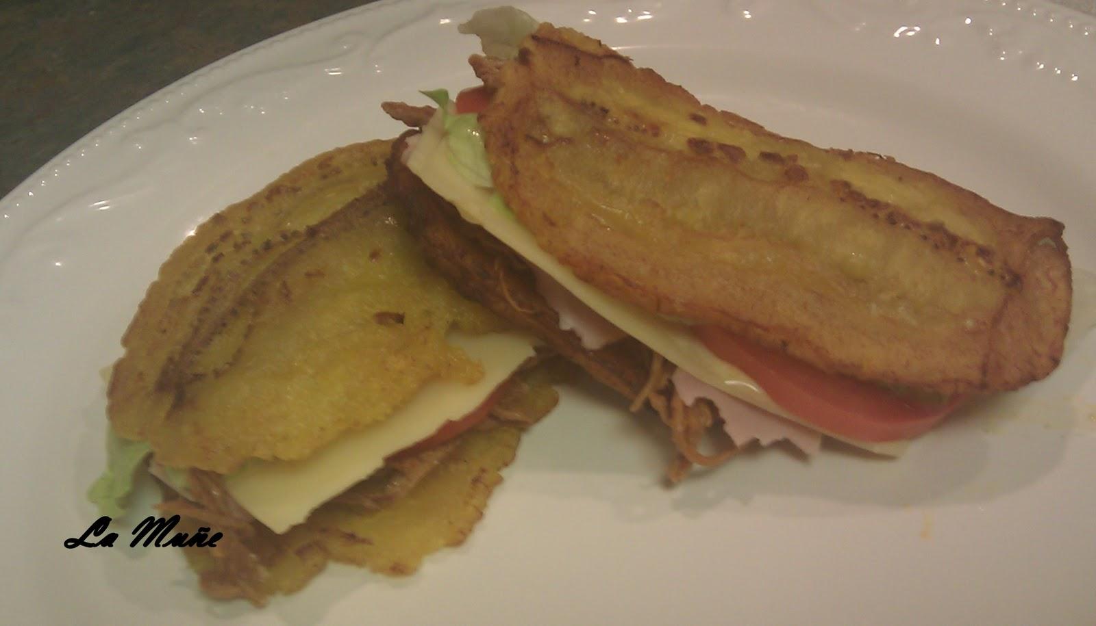 Cooking with La Muñe: Patacones Venezolanos / Patacon Sandwich