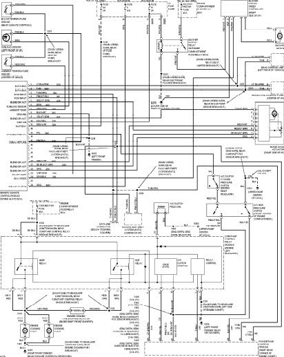 Car Wiring Diagrams: 1997 FORD TAURUS WIRING DIAGRAMS