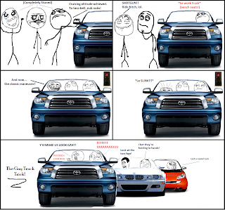 stoned guys in truck, trollface makes the gay truck trick, fffffuuuuu, ffffuuuu, fffuuu, rage comic, rage