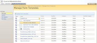 infopath templates 2010