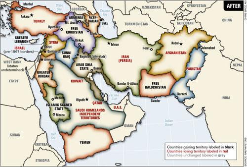 ABD\u0027nin Ortadoğu Haritası! ANADOLU HABER - amerika haritasi