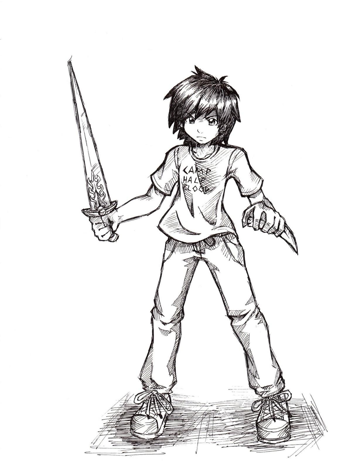 Camp Halfblood: Percy Jackson Art: Anaklusmos-Riptide