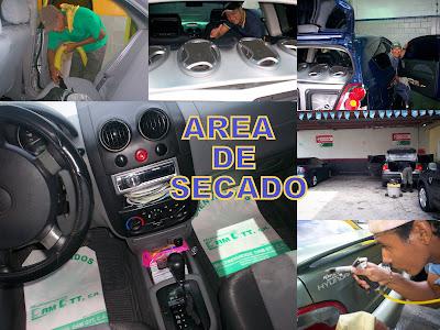 Diferentes areas de secado en autolavados en Yaracuy saquimsa