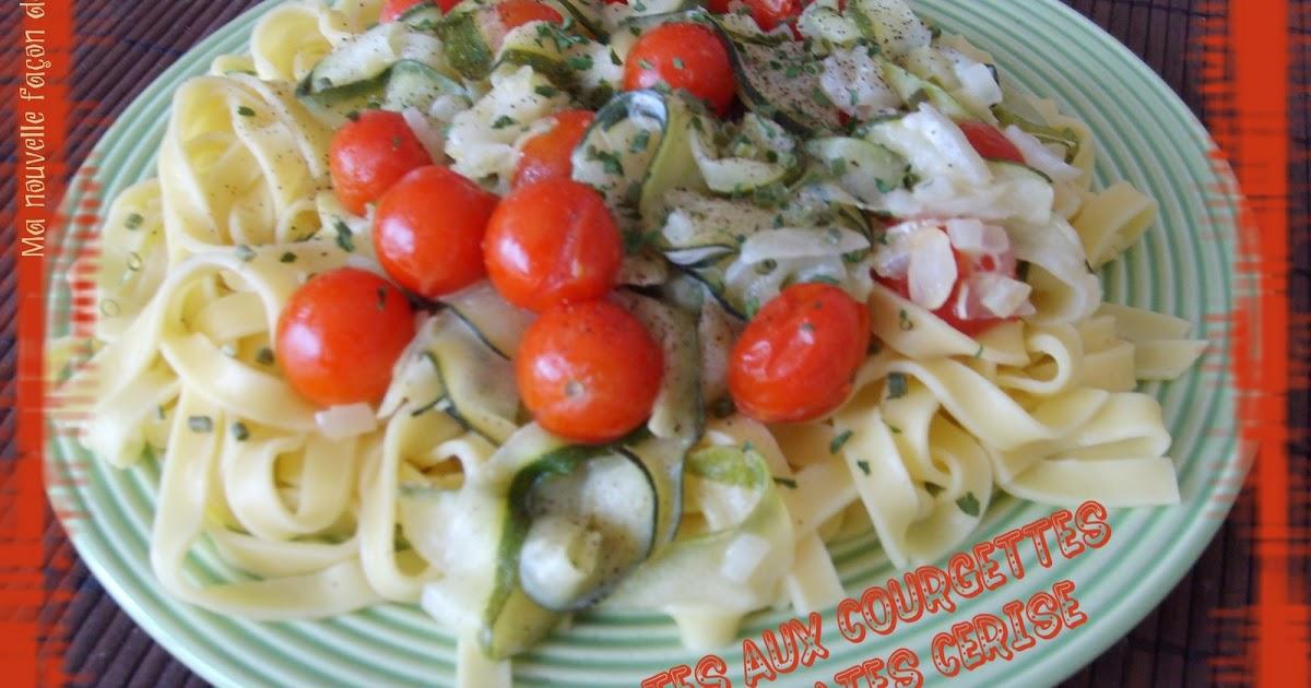ma nouvelle fa on de cuisiner p tes aux courgettes et tomates cerise 6 pts. Black Bedroom Furniture Sets. Home Design Ideas